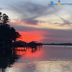 Lake Houston Dock Sunset